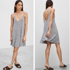 NWOT Aritzia Wilfred Free Grey Rafaeli Dress